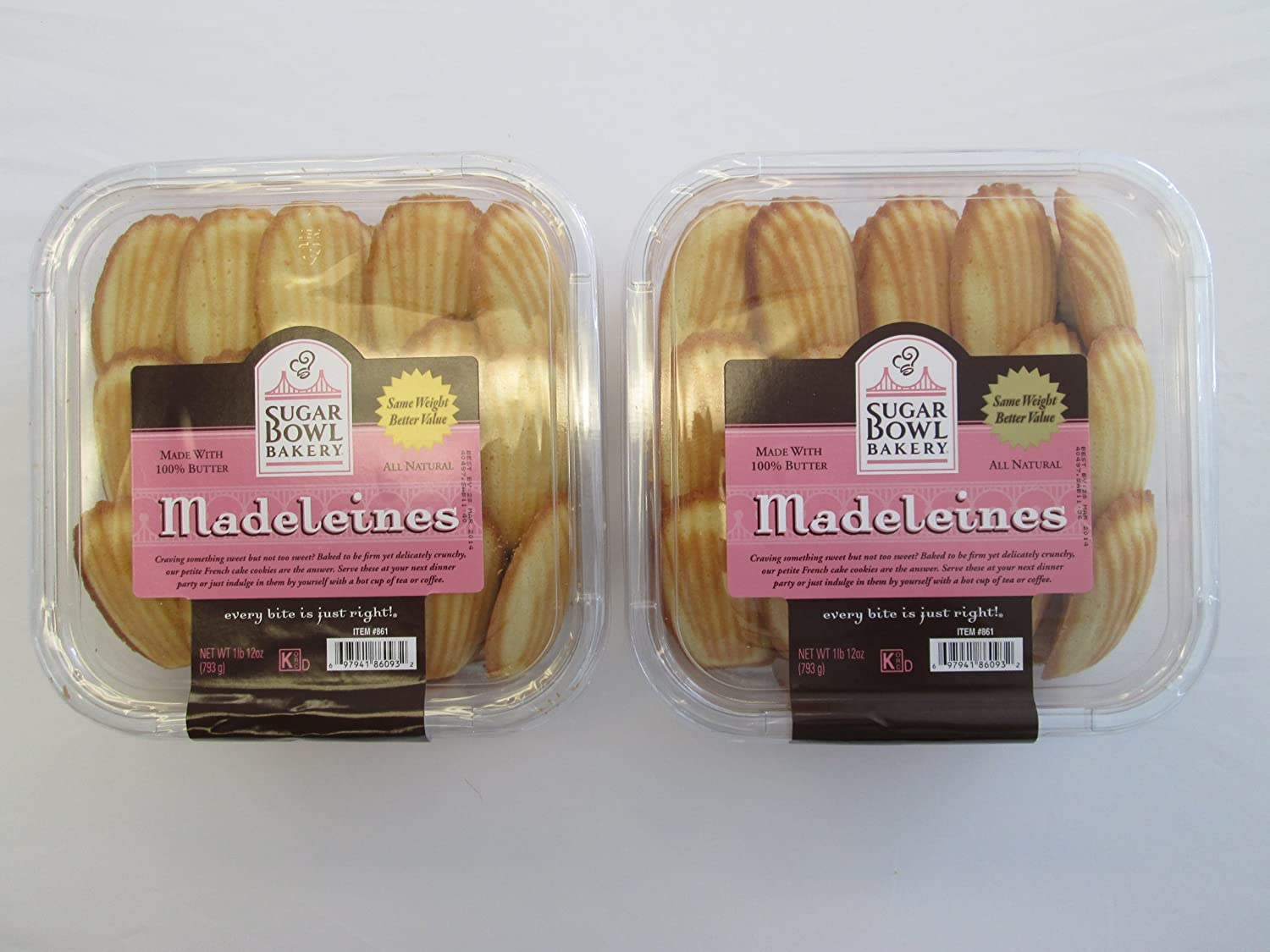 Sugarbowl Bakery All Natural Madeleines: 2 Pack of 28 Oz - Cos14
