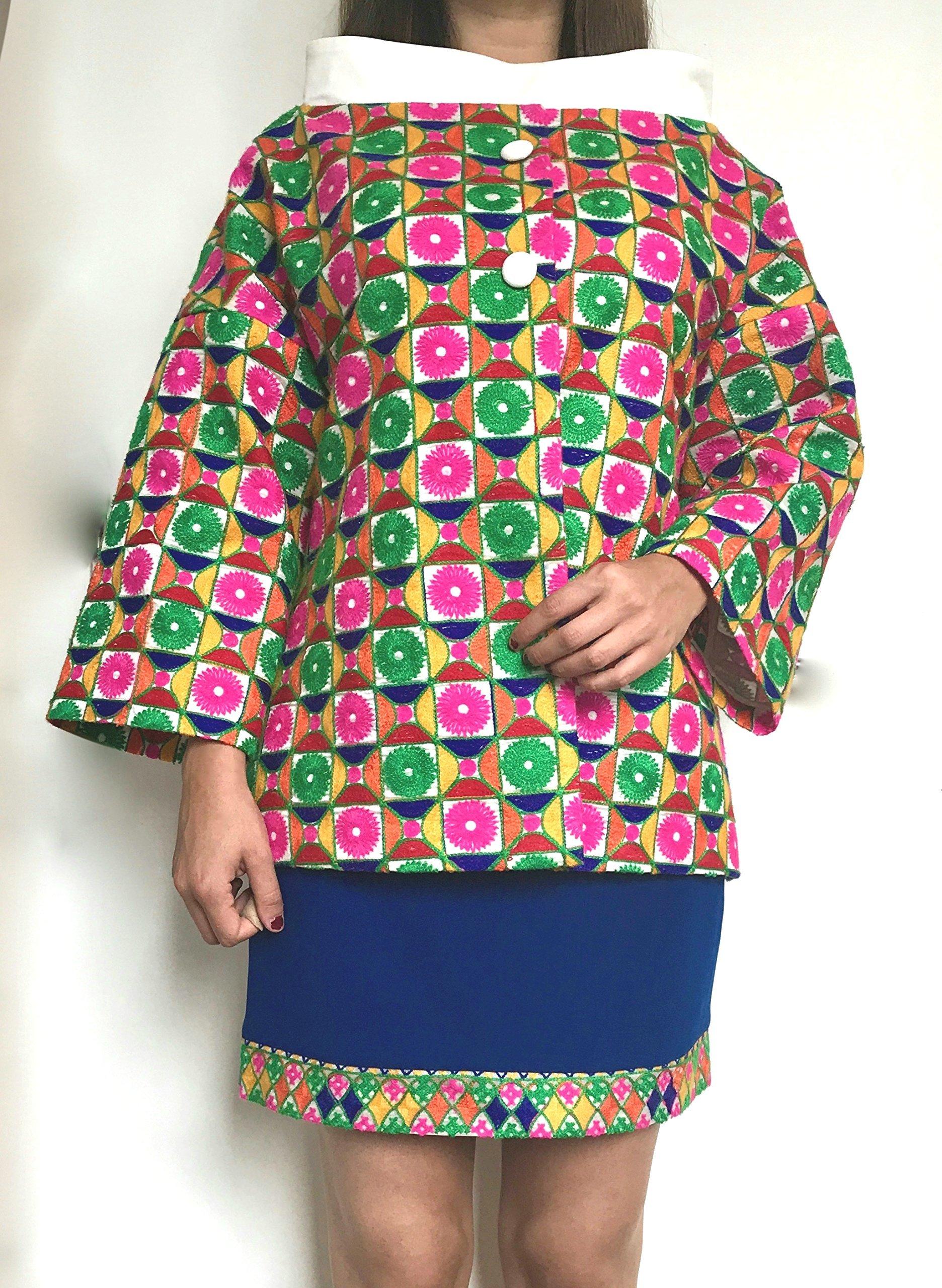Women short coat and skirt
