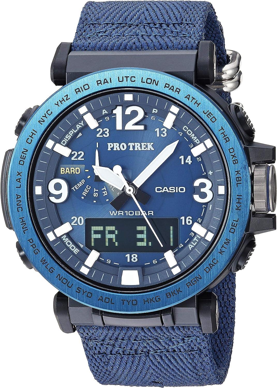 Casio Men's Pro Trek Stainless Steel Quartz Watch with Nylon Strap, Black, 23.9 (Model: PRG-600YB-2CR