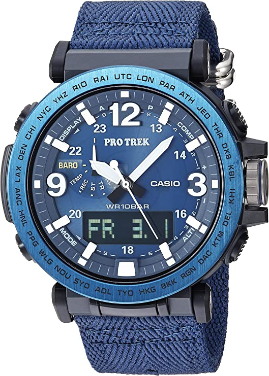 Casio Men's Pro Trek Stainless Steel Quartz Watch with Nylon Strap, Black, 23.9 (Model: PRG-600YB-2CR)