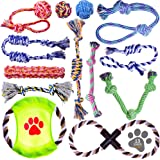 Dog Toys - Small Dog Rope Toy Pack - Puppy Dog Chew Toys - Small Breed Puppy Teething Toys - Small Dog Toys - Puppy Toys for Chewing - Teething Puppy Toys - Washable Cotton Rope Dog Toy Set of 13