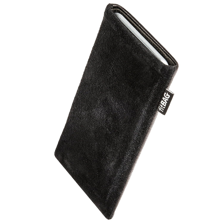 KeyTwo fitBAG Beat Schwarz Handytasche Tasche aus Echtleder Nappa mit Microfaserinnenfutter f/ür BlackBerry KEY2 H/ülle mit Reinigungsfunktion Made in Germany