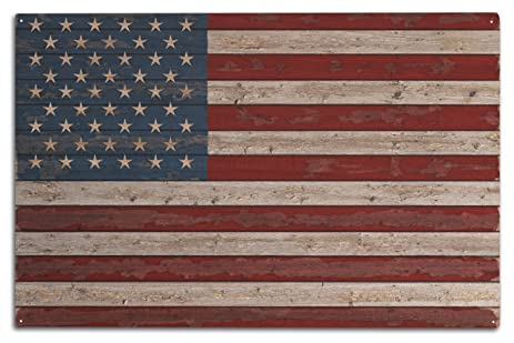 Merveilleux Distressed American Flag (10x15 Wood Wall Sign, Wall Decor Ready To Hang)