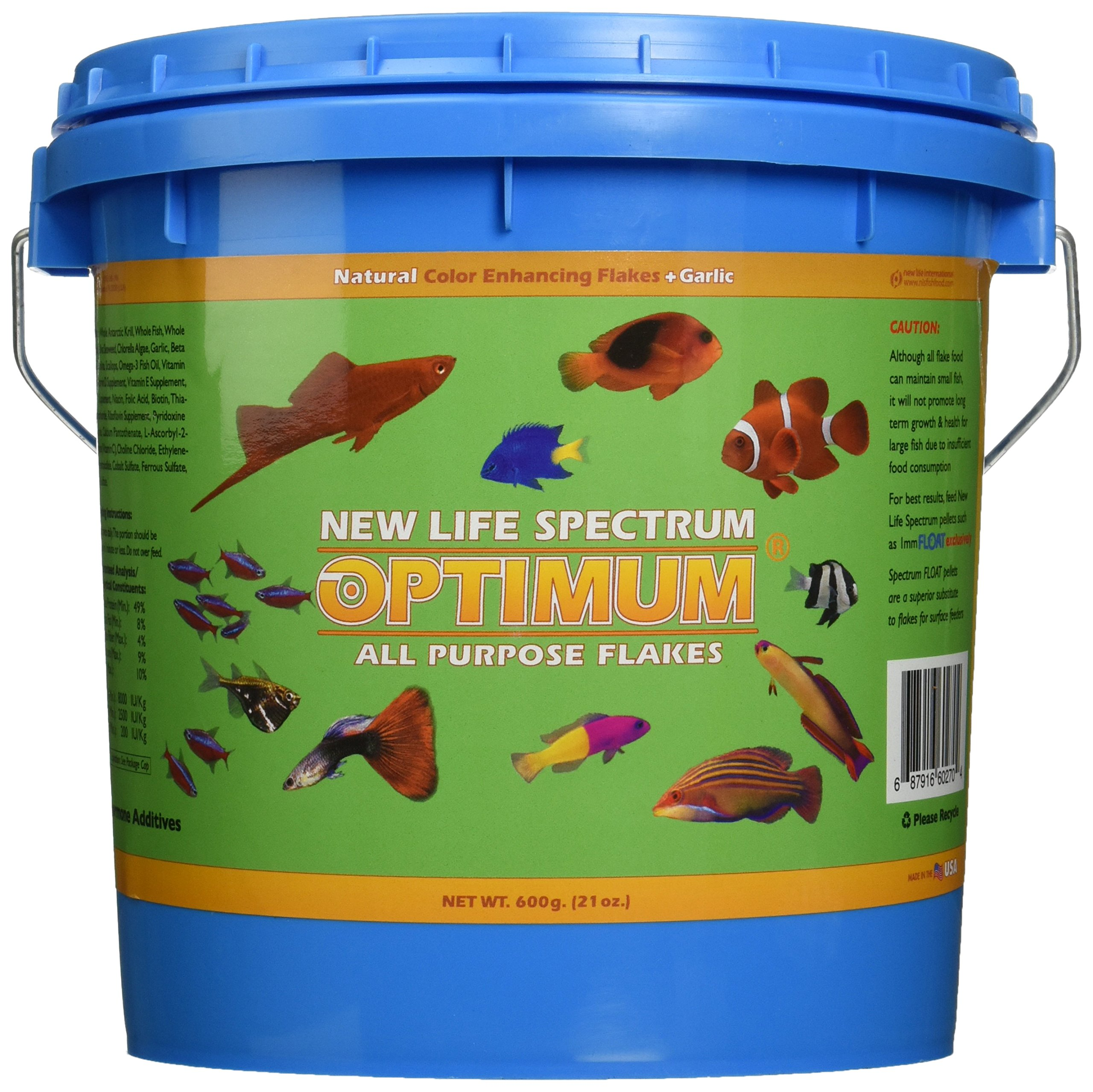 New Life Spectrum Optimum All Purpose Flakes for Fish, 600gm