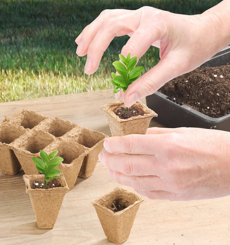 Connex Fibre pots - ø 4 cm - 48 pieces - Plant cultivation - FLOR79115 CON:P