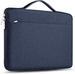 "ZINZ Laptop Sleeve 15 15.6 16 Inch Case Briefcase, Compatible MacBook Pro 16 15.4 inch, Surface Book 2/1 15"" Super Slim Spill-Resistant Handbag for Most Popular 15""-16"" Notebooks, Blue"