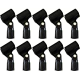 "GLS Audio Mic Clip - Heavy Duty Microphone Clips - ""U"" Style Mike Clip - Fits all standard size Mics - 10 PACK"