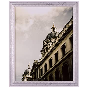 Amazon.com - Craig Frames 314WH, Ornate White and Silver Picture ...