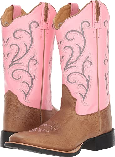 354d85196b3 Old West Boots Women s 18119 Tan Fry Pink Boot