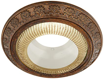 Plow Hearth 11609 Brz Acanthus Leaves Recessed Light Cap Ring In D Bronze