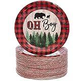 Oh Boy Lumberjack Buffalo Plaid Baby Shower Party