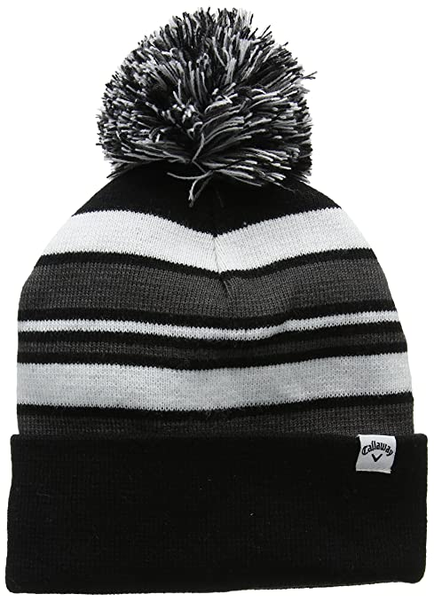 3cccd0468c38 Amazon.com: Callaway 2017 Pom Pom Beanie Mens Black/Charcoal One Size Fits  All: Toys & Games