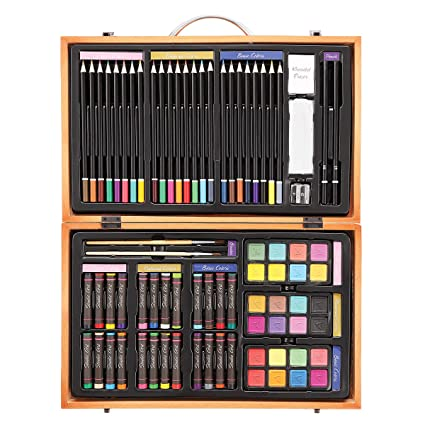 Darice 80-Piece Deluxe Art Set – Art Supplies for Drawing, Painting and  More in a Compact, Portable Case - Makes a Great Gift for Beginner and