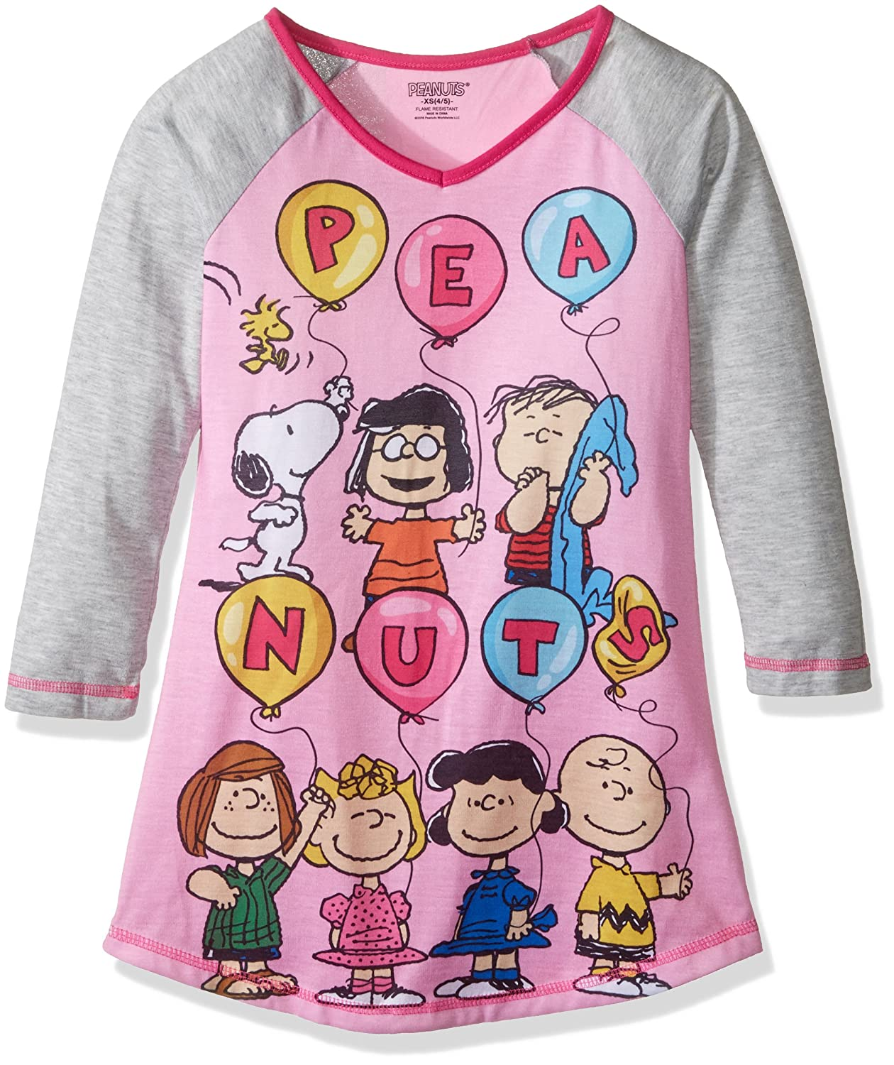 Peanuts Girls All Characters Sleepwear Gown