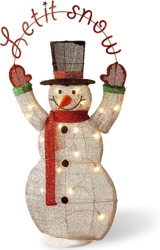 "Snowman Vertical Wood Print Sign 23.5"" x 7.375"""