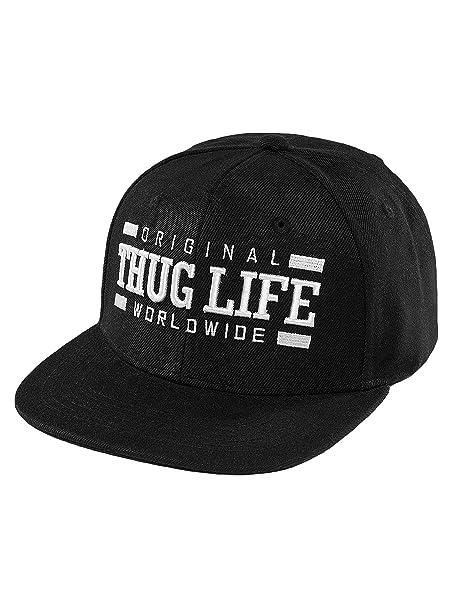 THUG LIFE Hombres Gorras/Gorra Snapback Worldwide: Amazon.es: Ropa y accesorios