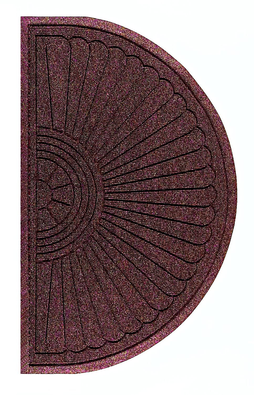 M+A Matting 2246 Waterhog Eco Grand Premier PET Polyester Fiber Half Oval Entrance Indoor//Outdoor Floor Mat SBR Rubber Backing 2.3 Length x 4 Width Grey Ash 3//8 Thick