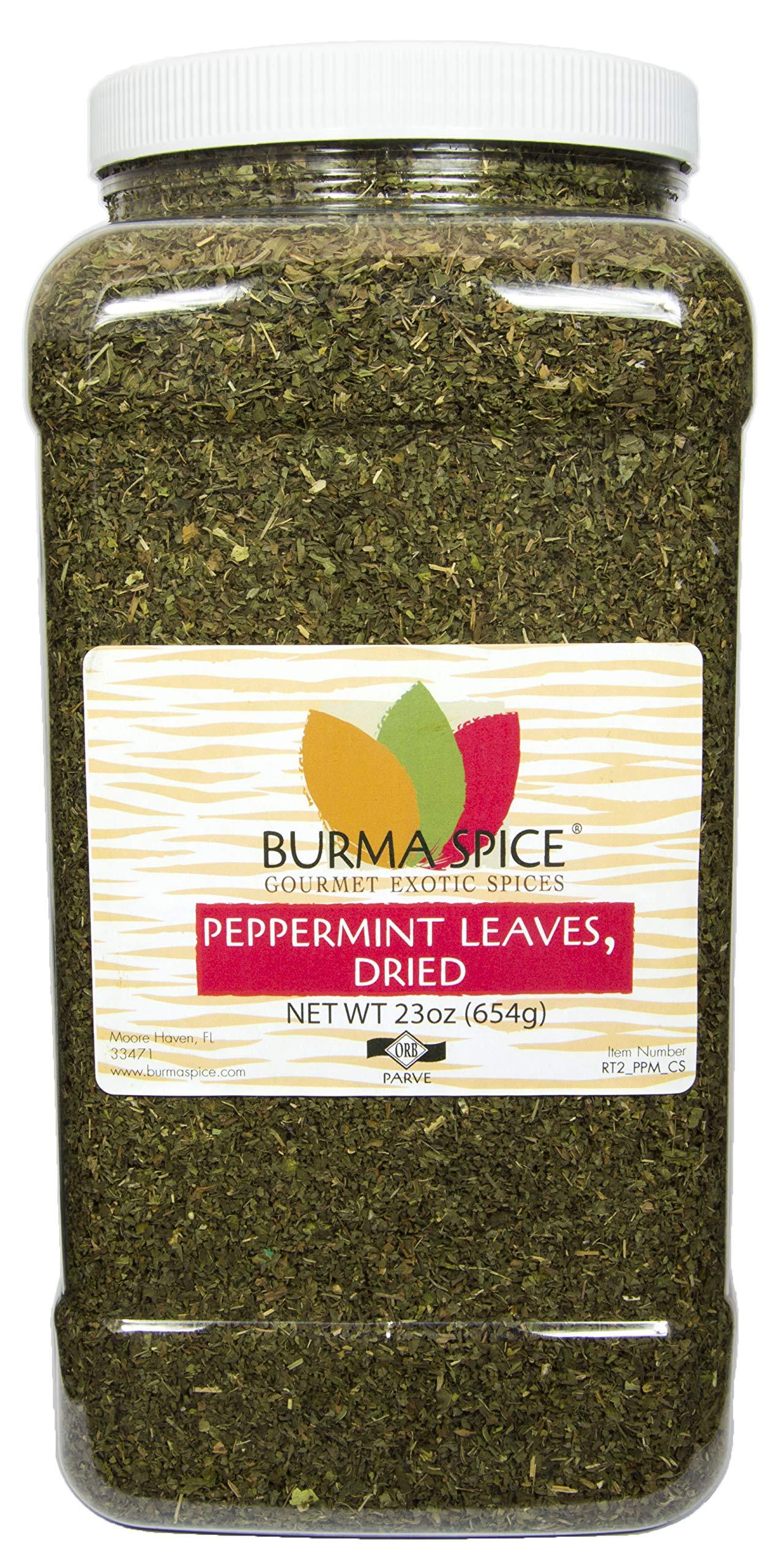 Peppermint Leaves : Dried Herb Loose Leaf Mint Tea : Caffeine-Free Kosher (23oz.) by Burma Spice (Image #1)