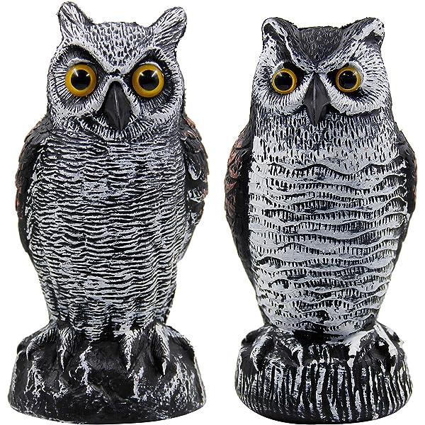 "Realistic Owl VTG 1990 Dalen Plastic Blow Mold 16/""  USA Decoy Pest Deterrent 619"