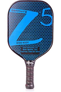 ONIX Graphite Z5 Pickleball Paddle (Graphite Carbon Fiber Face with Rough Texture Surface, Cushion
