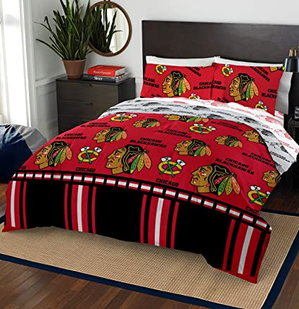 The Northwest Company Chicago Blackhawks Comforter and Sham Bed Set