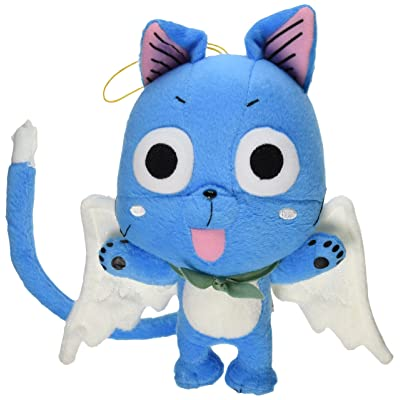 """Great Eastern GE-6968 Animation Official Fairy Tail Anime Happy 8"""" Plush: Toys & Games"""
