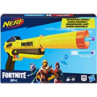 NERF E6717EU4 SP-L Blaster with Detachable Barrel and 6 Official Fortnite Elite Darts for Youth, Teens, Adults, Multicolour