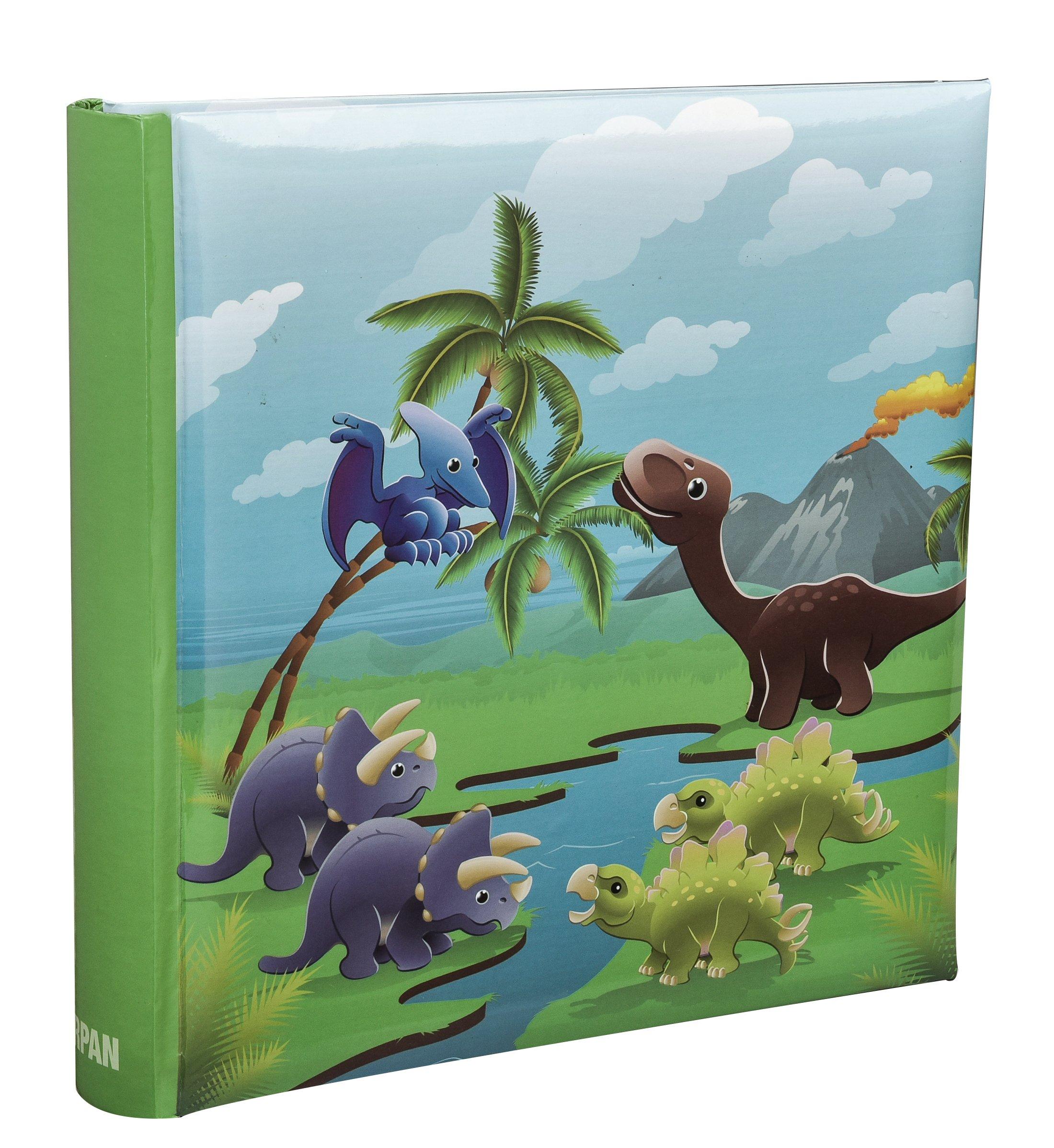 ARPAN 4 x 6'' Kids Cute Dinosaurs in Prehistoric Scene Slip In Memo Childrens Photo Album For 200 Photos