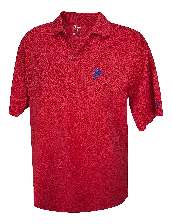 Frogger Golf SHIRT メンズ B074NBSC3M XX-Large レッド/ ブルー レッド/ ブルー XX-Large