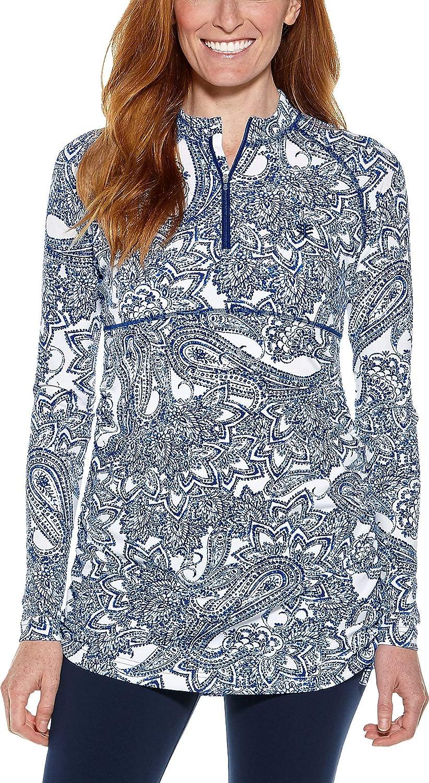 【サイズ交換OK】 Coolibar UPF 50+ レディース ルーシュ スイムシャツ - Paisley 日焼け防止 B07N4B5YYV 日焼け防止 UPF Blue Ornate Paisley Small Small|Blue Ornate Paisley, 創業60年 コクガ時計宝石店:ca3ad46d --- svecha37.ru