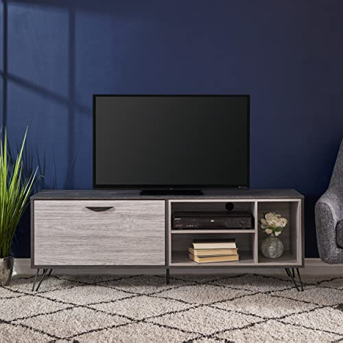 Christopher Knight Home Faux Wood Tv Stand, Sonoma Gray Oak Gray Oak Black