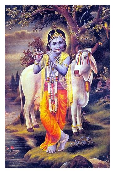 Lord Shri Krishna Poster For Room Krishna Poster Janmashtami Poster Festival Poster Religious Poster Amazon In Home Kitchen