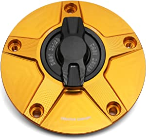 NIMBLE Gold CNC 1/4 Quick Lock Fuel Cap For Kawasaki ZX-6R 2007-2013 NINJA ZX-10R 06-13 08 09 10 11 12