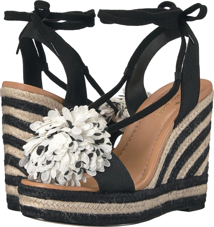 79757ad3eb0f kate spade new york Women s Daisy Black Grosgrain Black White Stripe Sandal   Buy Online at Low Prices in India - Amazon.in