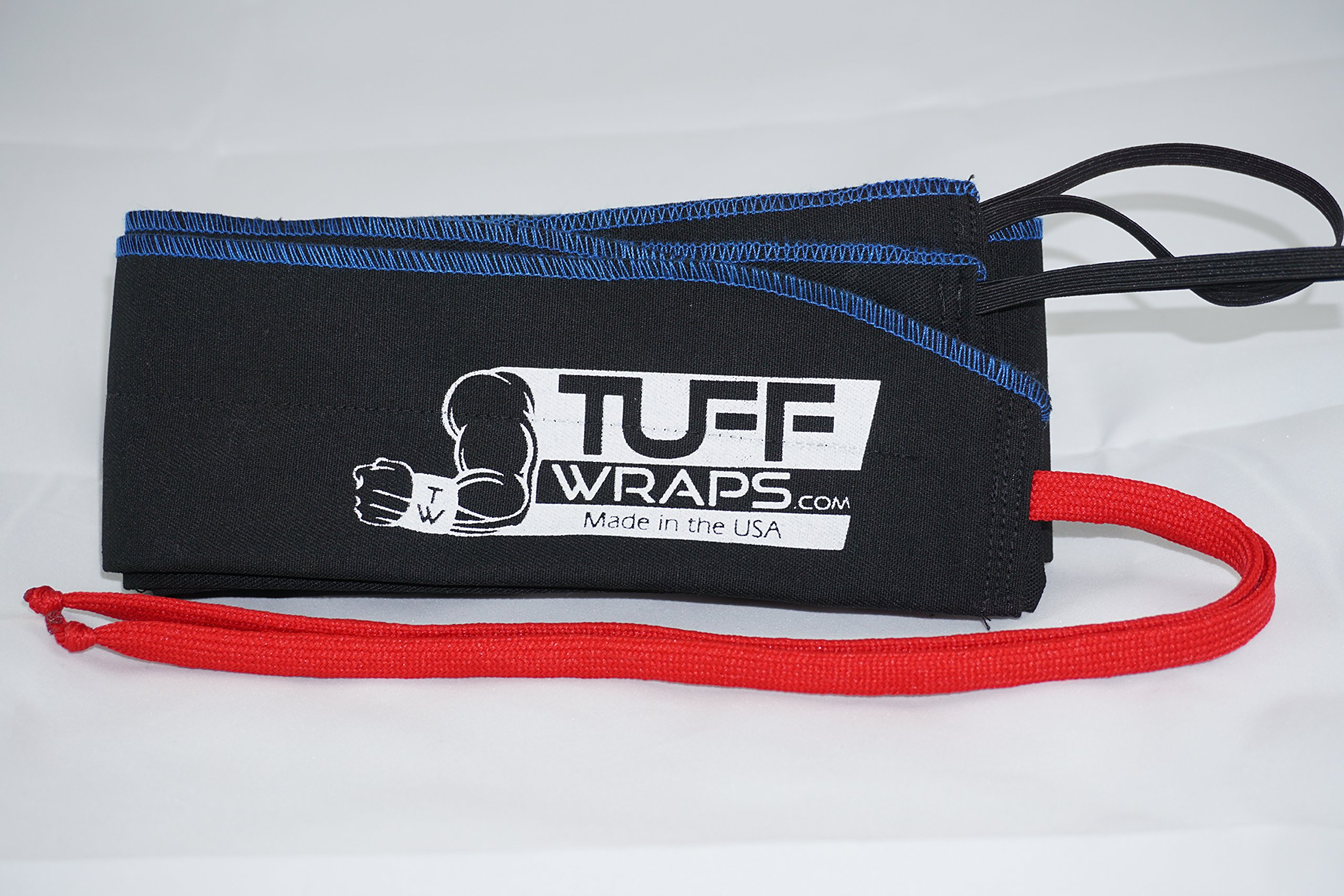 Blue/Red Tuffwraps: Wraps for Crossfit, Olympic Weightlifting, Power Lifting. Innovative Thumb Loop for Easy Application.