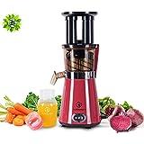NUTRILOVERS Saftpresse Slow Juicer elektrisch, Gemüse und Obst Entsafter, 350 Watt, gesund Entsaften, rot