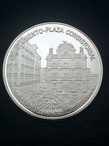 Moneda bañada en plata Ayuntamiento de Pamplona (Iruña): Amazon.es ...
