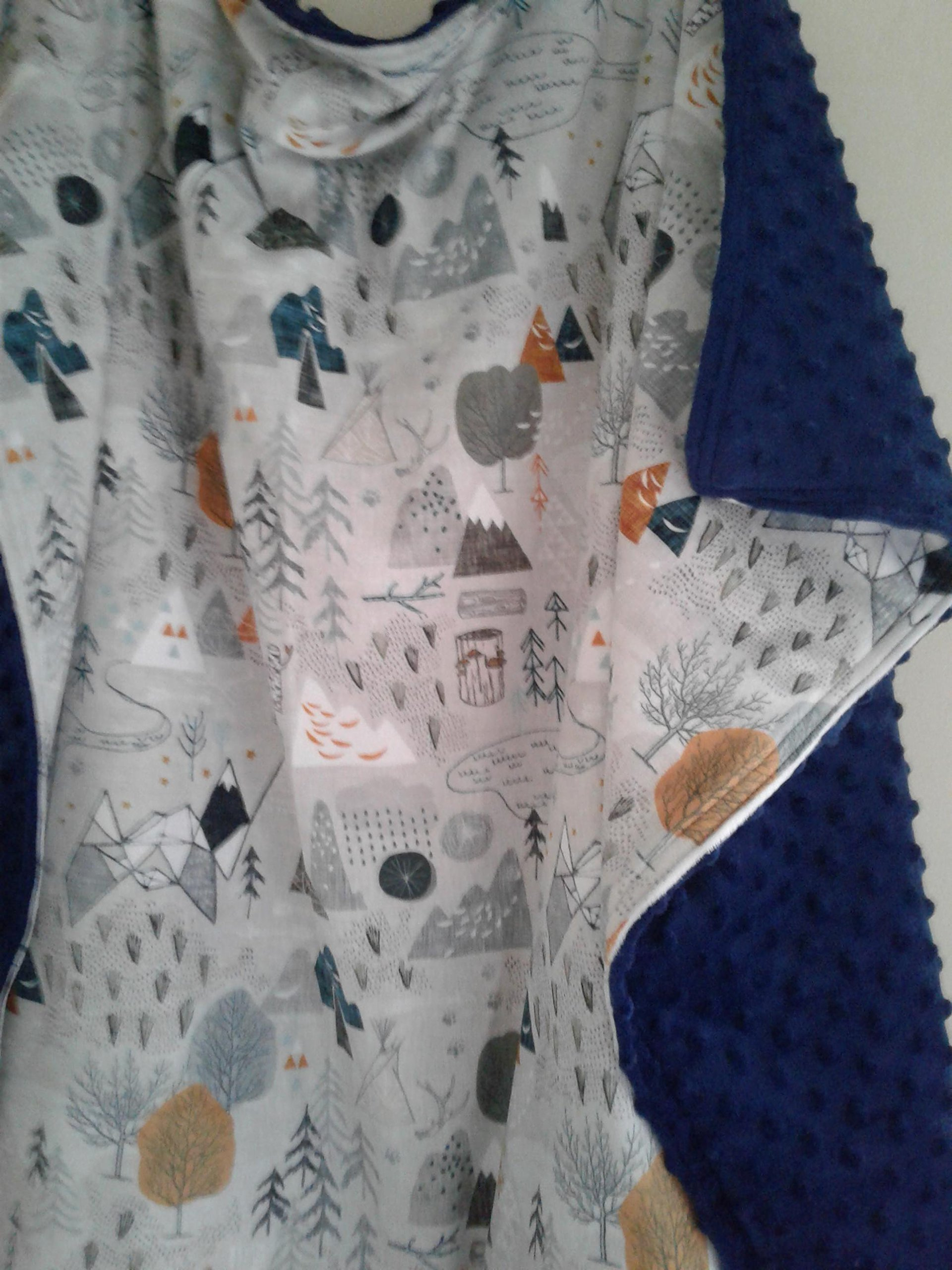 Max's Map, baby bedding baby blankets linens & sheets by hadan baby blanket