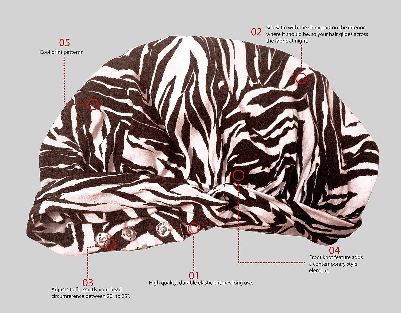 a19e243c91949 Lullado Silk Satin Bonnet by Large Satin Sleep Bonnet Cap ...