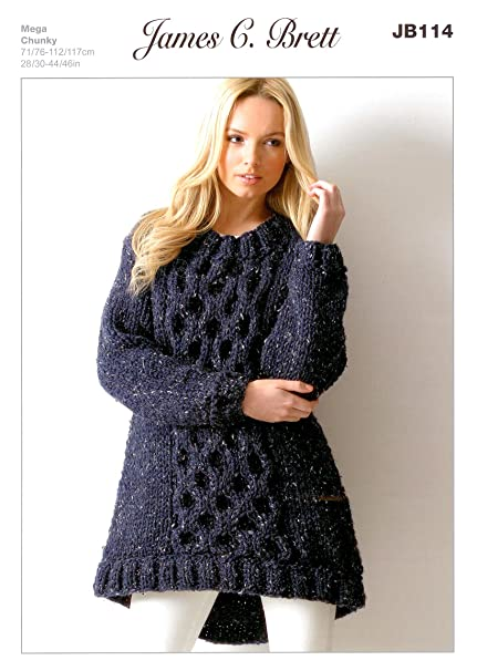 6bab7a64b5d73 Image Unavailable. Image not available for. Colour  Ladies Tunic JB114 Knitting  Pattern for James C Brett ...