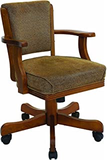 Coaster Mitchell Casual Amber Upholstered Game Arm Chair