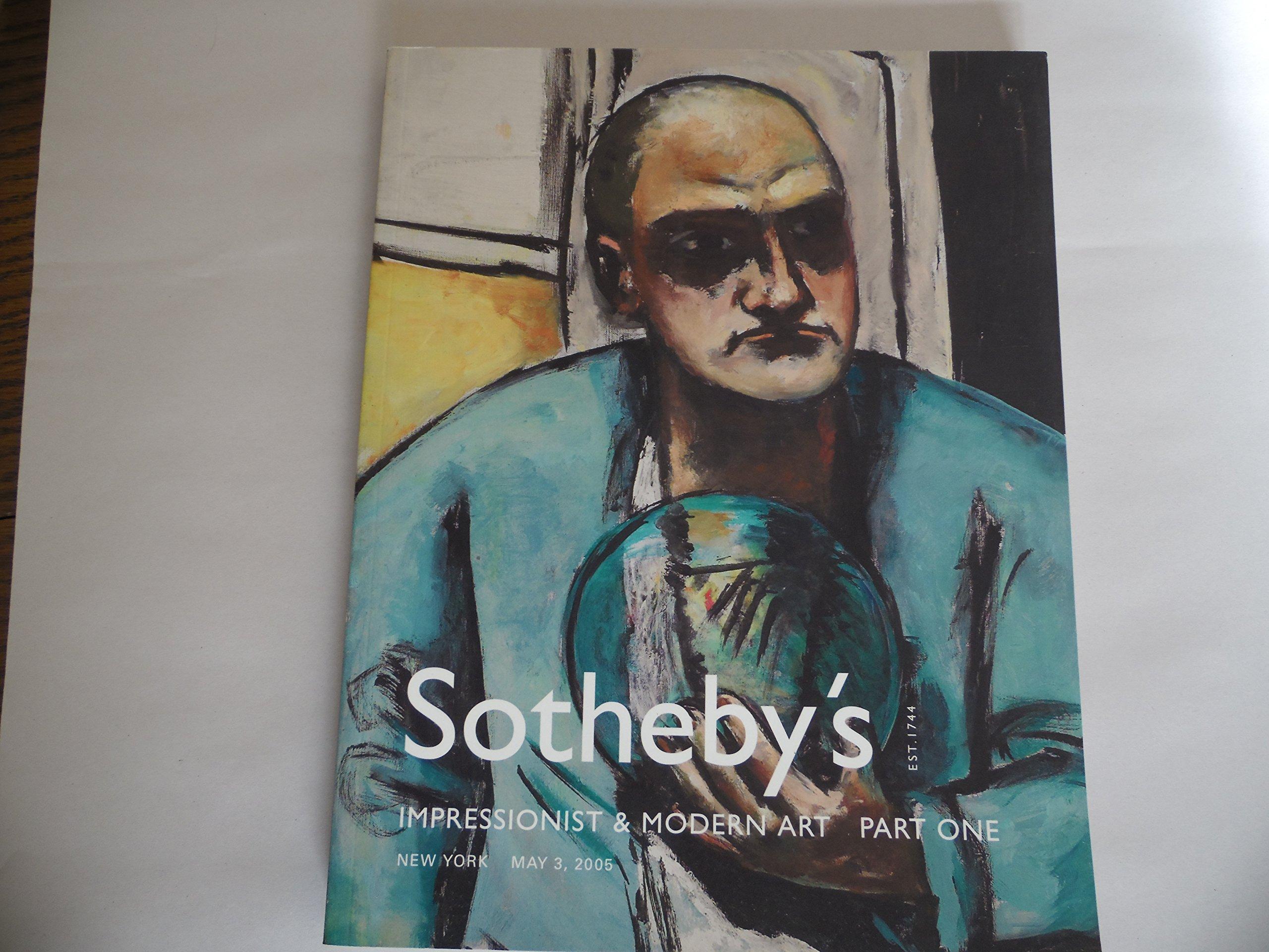 Sotheby's : Impressionist & Modern Art Part One : Impressionist & Modern Art Part One : May 3, 2005 : Sale N08089 pdf