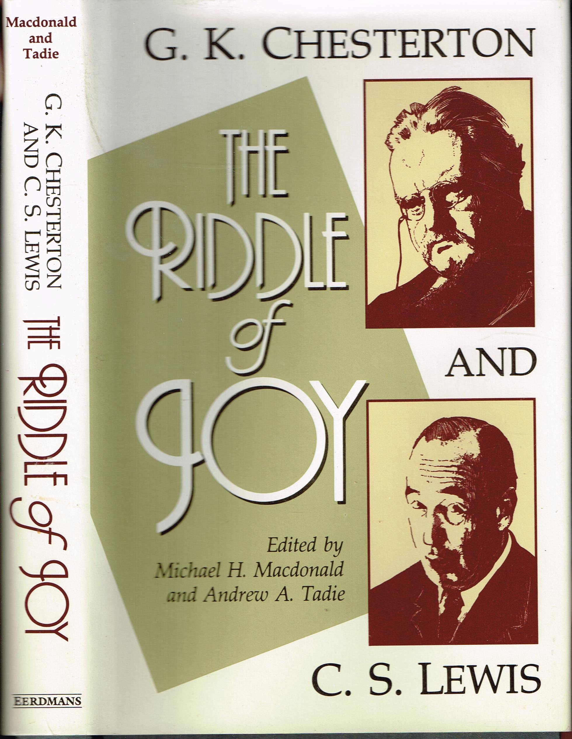 Amazoncom The Riddle Of Joy Gk Chesterton And Cs Lewis