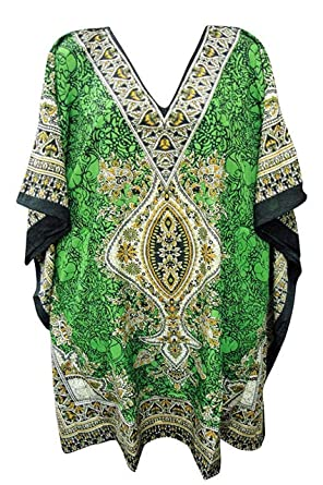 d0914d5e16f Ladies womans summer holiday beach kaftan size 12-28 UK: Amazon.co.uk:  Clothing