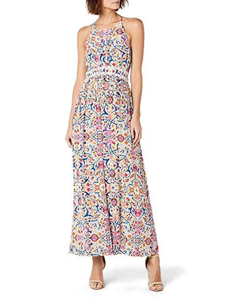 Naf Naf LIBOLLY R2, Vestido para Mujer, (Imprime 487), (Talla