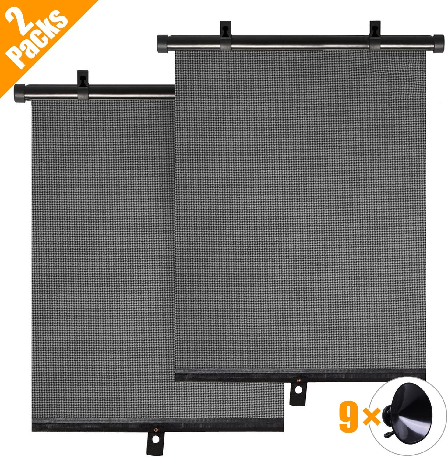 2 Pack Car Sun Shades for Kids Premium Car Window Shades for Baby Block 97/%