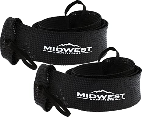 Baitcast Fishing Rod Sleeve Rod Sock Cover 2 Pack By Midwest Outfitters Rust