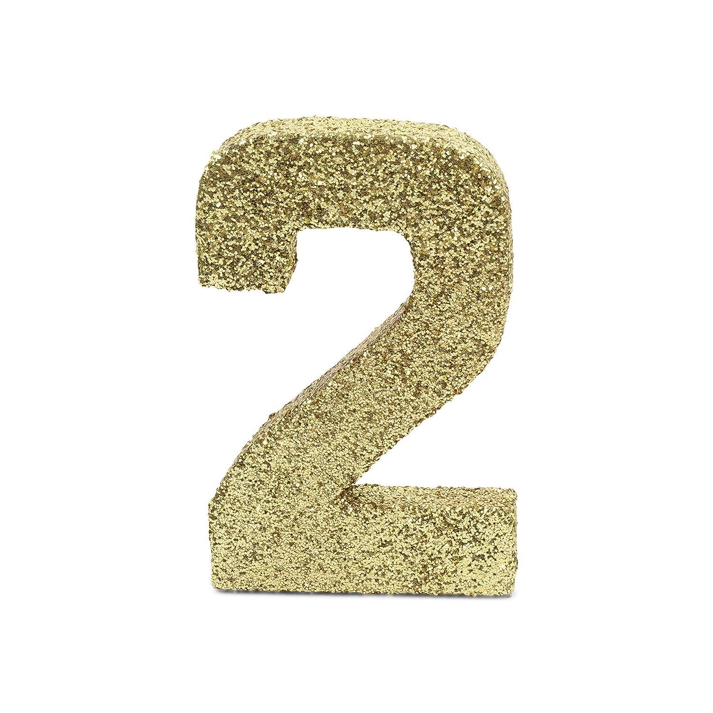 8 Gold Coarse Glitter Number 1 Prop