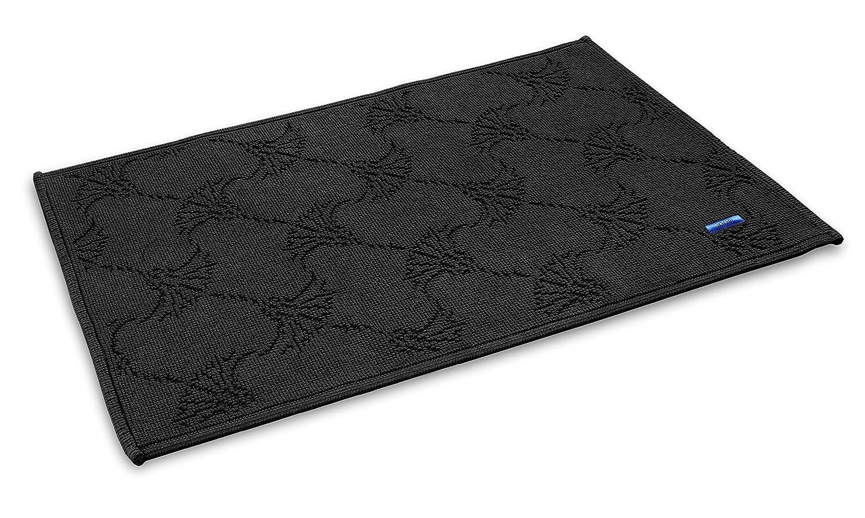 JOOP  NEW CORNFLOWER Designer Badteppich   Badematte schwarz - 60 x 90 cm