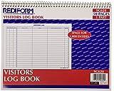REDIFORM Visitors Log Book, Wirebound, White, 11